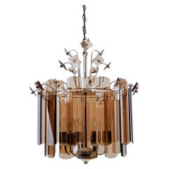Murano Glass Plates Chandelier, 1960s Italy