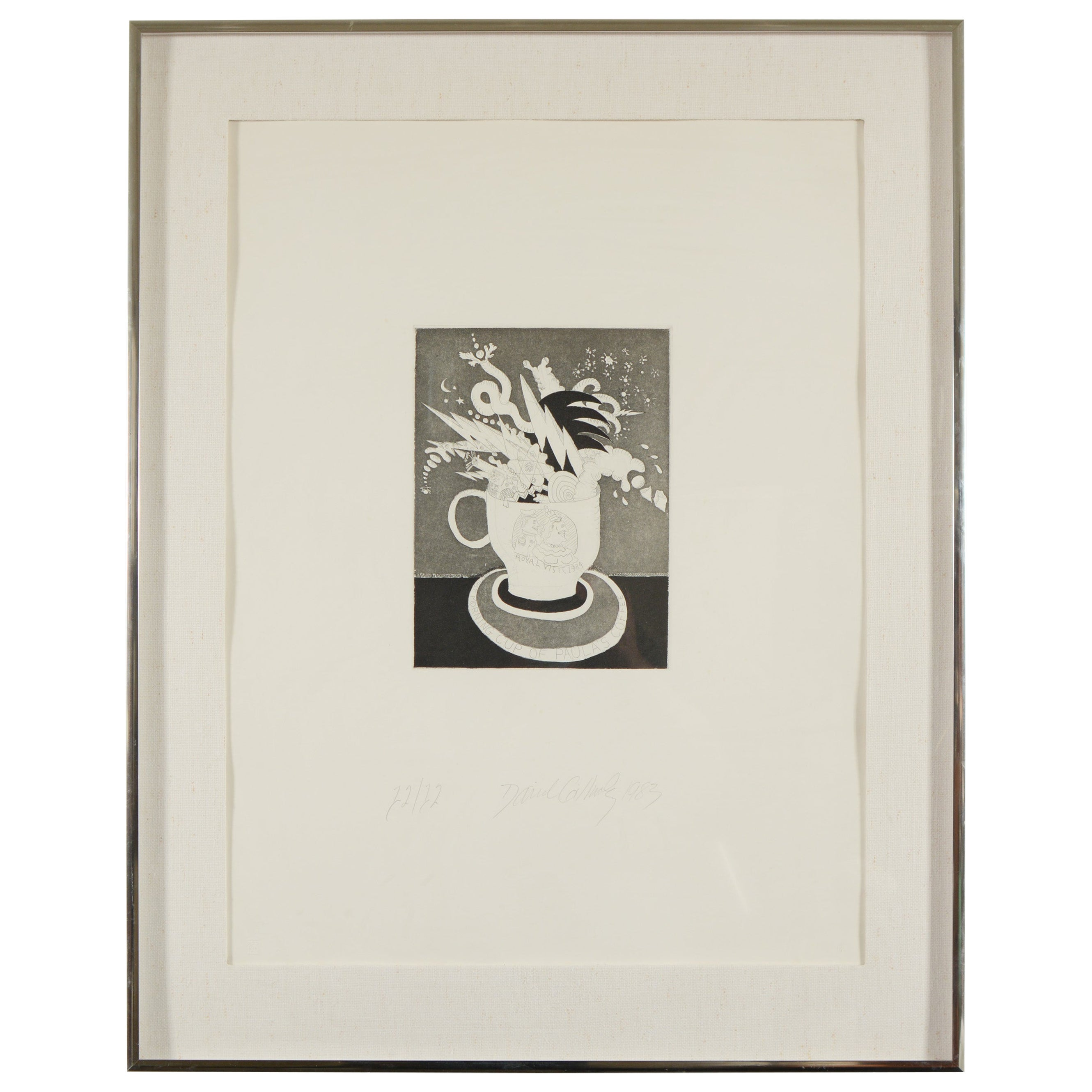 """David Gilhooly """"The First Morning Cup of Paula's Coffee"""" Print"""