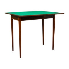 Antique Fold Over Card Table, English, Mahogany, Games, Occasional, Edwardian