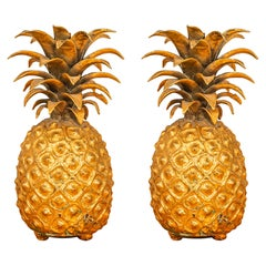 In the Style of the Maison Charles, Pair of Pineapples, circa 1980, France