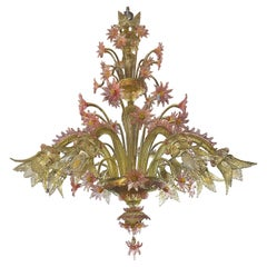 20th Century Italian Venetian Eight-Light Chandelier, 1930s