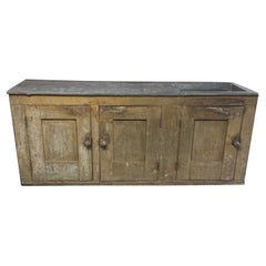 19th Century Country Zinc Top Dry Sink