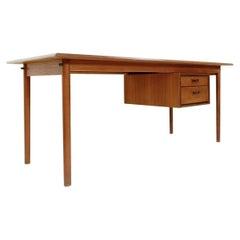 Mid-Century Teak Desk with Sliding Drawers by Arne Vodder, Denmark, 1960s