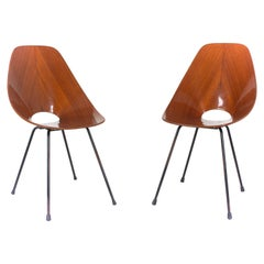 Set of Two Medea Chairs by Vittorio Nobili for Fratelli Tagliabue, Italy, 1950s
