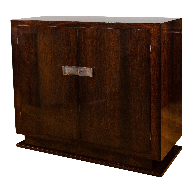Sleek Belgium Modernist Two-Door Sideboard or Cabinet
