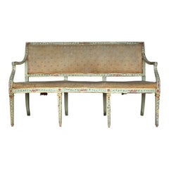 18th Century Venetian Painted and Parcel Gilt Settee