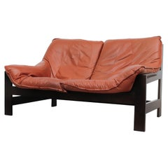 Little LeoLux Loveseat with Coral Leather