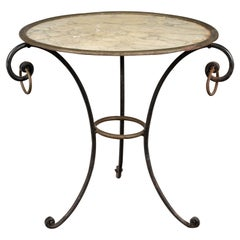 French Mid Century Wrought Iron Side Table