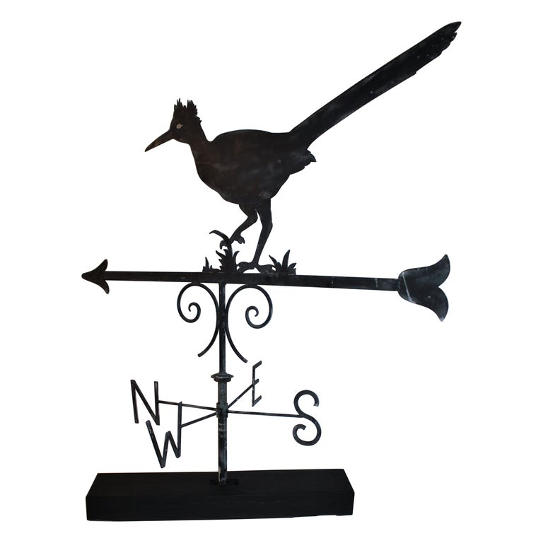 Early 20thc Monumental Road Runner Weather Vane For Sale