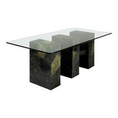 Paul Evans Brutalist Sculpted Bronze Dining Table Base