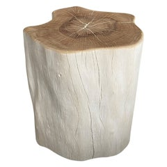 Andrianna Shamaris Two Toned Lychee Wood Side Table