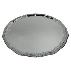 Traditional English Neoclassical Sterling Silver Tray