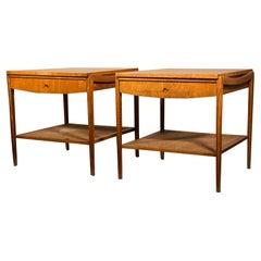 Pair of Widdicomb End Tables in Walnut