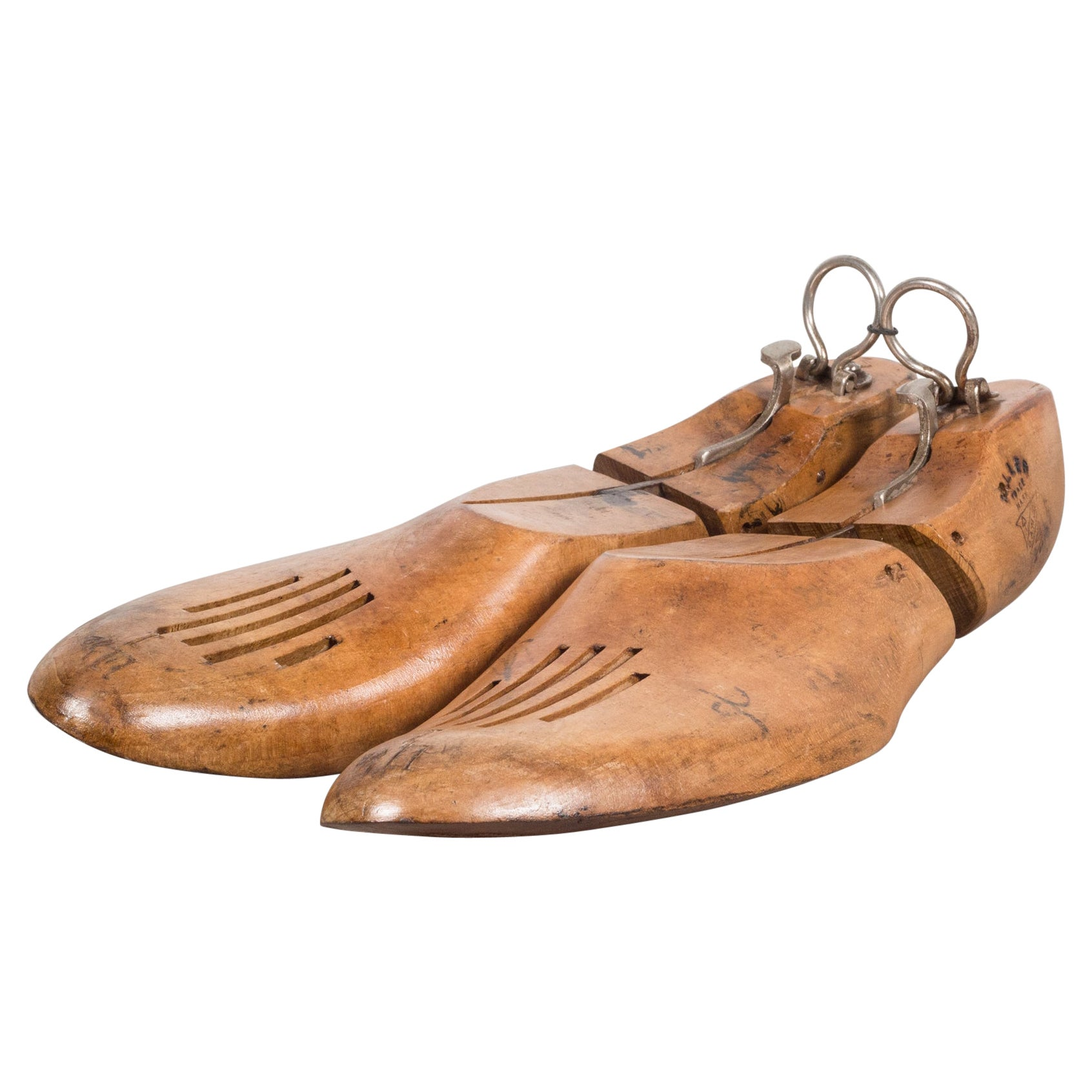 Antique Wooden Shoe Forms with Handles c.1920