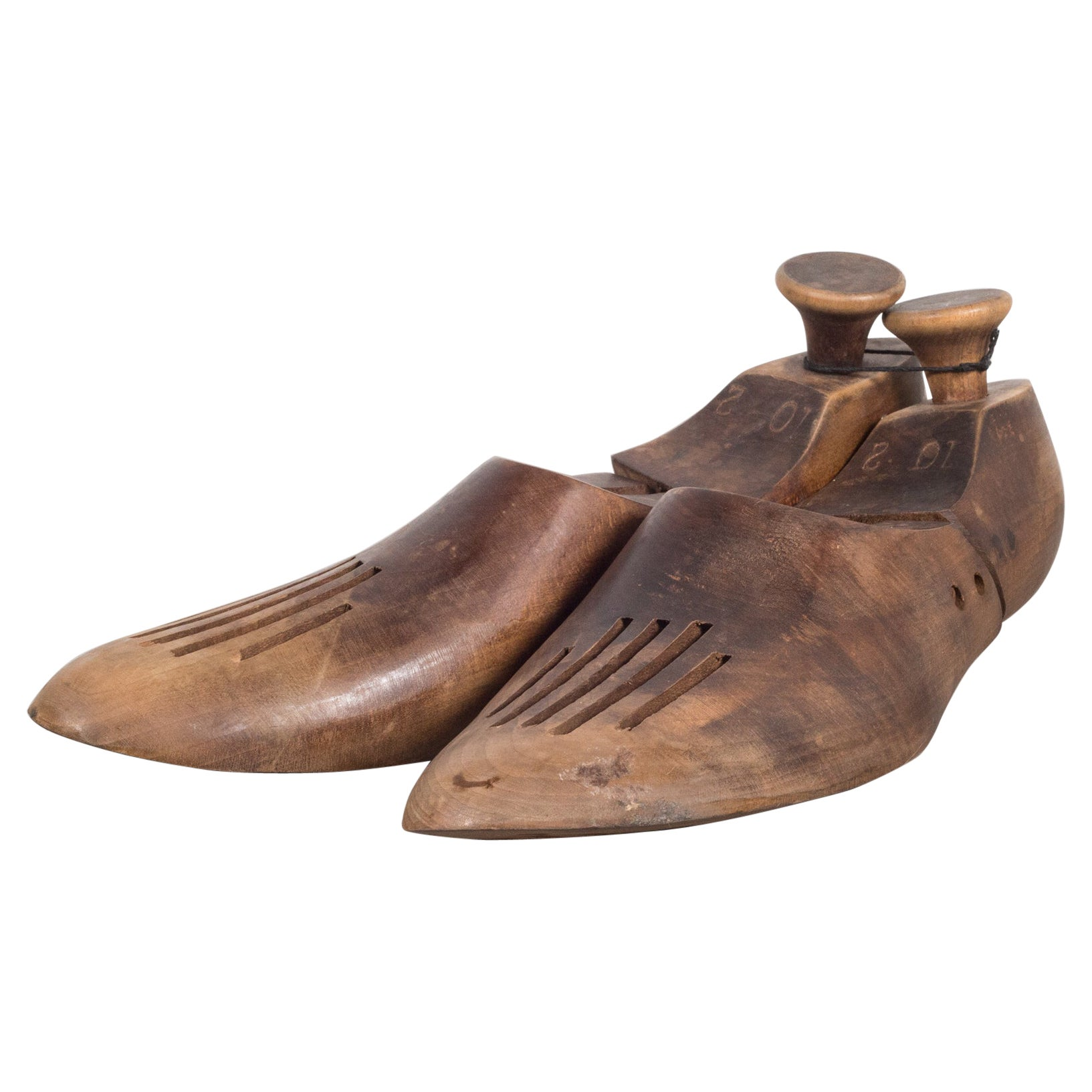 Antique Wooden Shoe Forms with Handles, c.1920