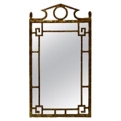 1970s Neo-Classical Style Giltwood Faux Bamboo Mirror