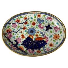 Oval Porcelain Dish Made by Coalport England circa 1825