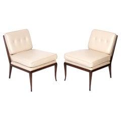 T.H. Robsjohn Gibbings Leather Slipper Chairs