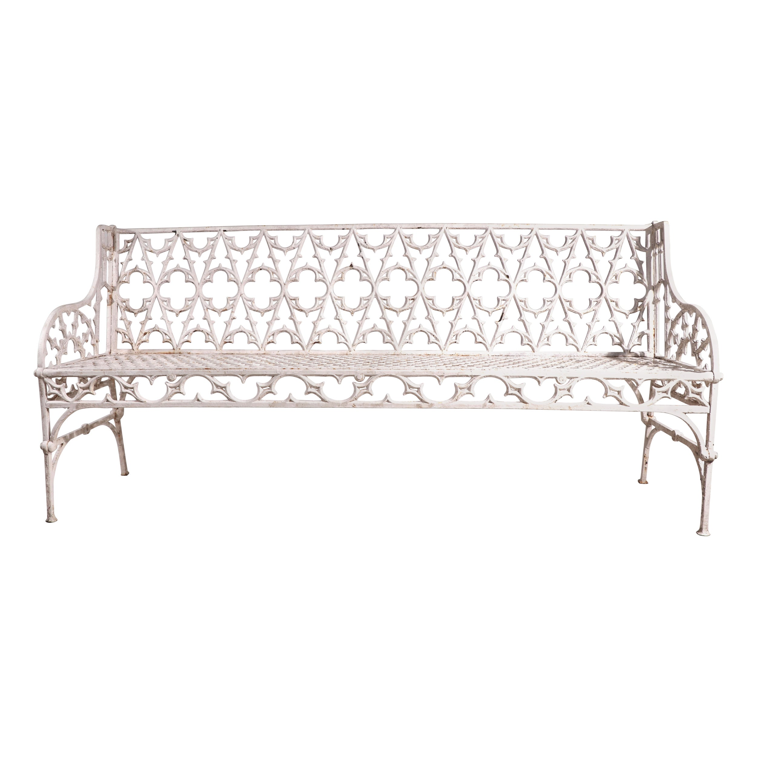 Mammouth Cast Iron Garden  Bench with Gothic Castings