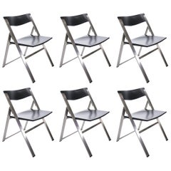 Set of Six P08 Folding Chairs by Justus Kolberg for Tecno, Italy