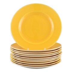 11 Royal Copenhagen / Aluminia Confetti Plates in Yellow Glazed Faience