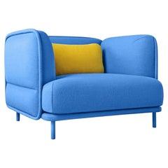Hug Armchair, Blue by Cristian Reyes