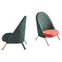 Set of 2 Okapi Armchairs by PerezOchando