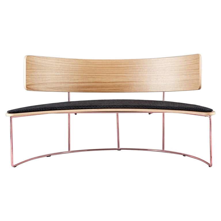 Boomerang Bench, Black by Cardeoli For Sale