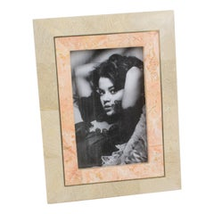 Maitland-Smith Tessellated Marble Travertine Stone Picture Frame