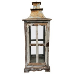 Vintage Wood Large Lantern