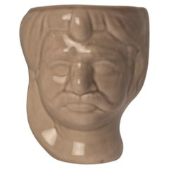21st Century, Sicilian Moor' Head Design, Ceramic Vases, Made in Italy Handmade