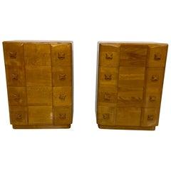 1940s Divine Art Deco Heywood Wakefield RIO Dressers in Maple Wood by L Jiranek