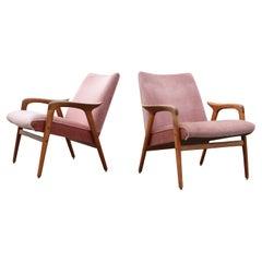 Yngve Ekström Modell Lästo Swedese Cherry Blossom Easy Lounge Chair Oak Set of 2
