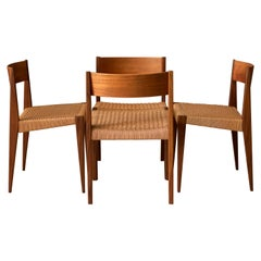 Vintage Set of Four Danish Teak Dining Chairs by Poul Cadovious