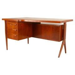 Danish Modern Freestanding Teak Desk, 1960s