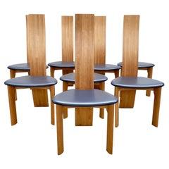 Set of 8 Dining Chairs Model ''Iris'' by Van Den Berghe Pauvers, Belgium, 1960s
