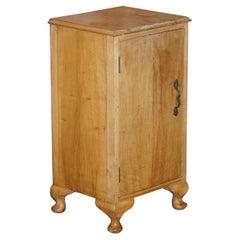 Lovely Vintage circa 1930's Bedside Lamp End Wine Table Burr Walnut Part Suite