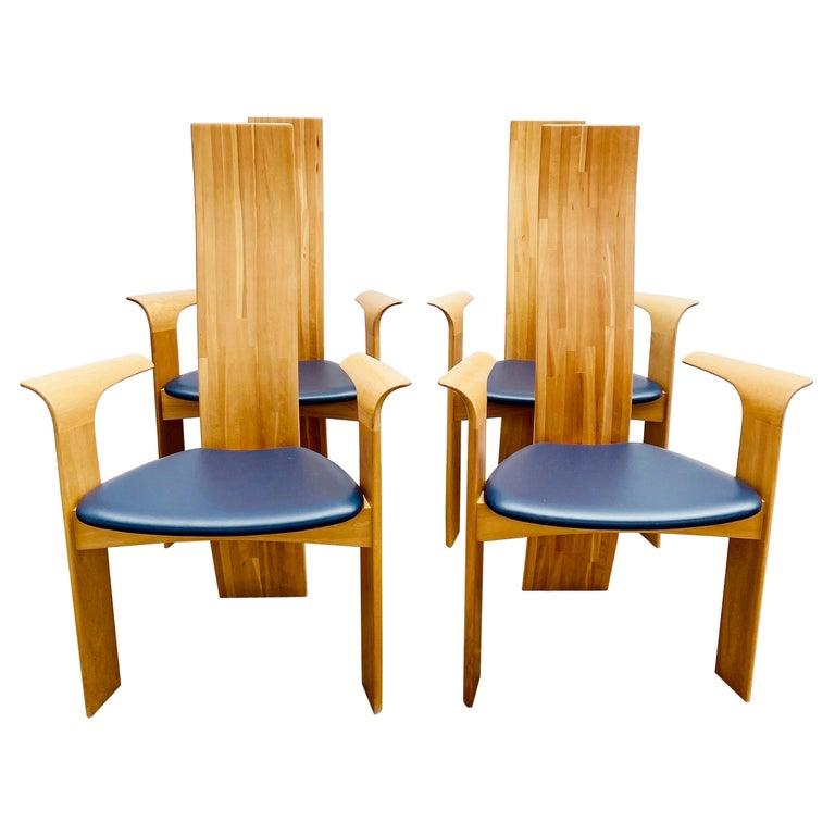 Set of 4 Armchairs Model ''Iris'' by Van Den Berghe Pauvers, Belgium 1960s