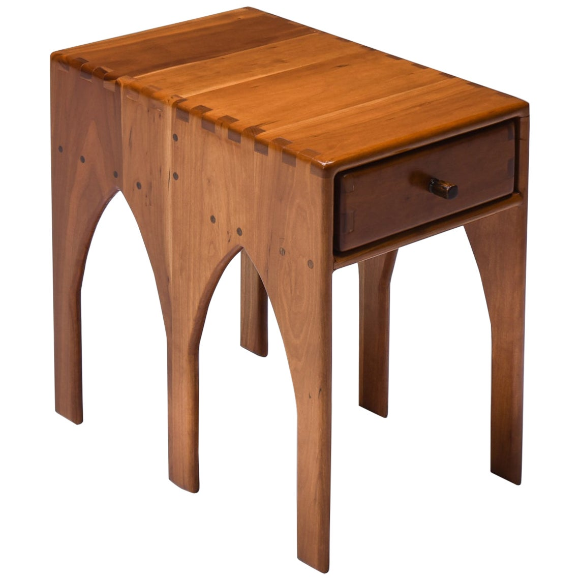 Studio Furniture American Craft Side Table with Drawer on Each Side