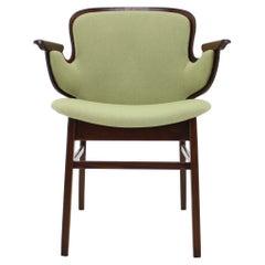 1950s Hans Olsen Beech Shell Chair For Bramin Mobler, Denmark