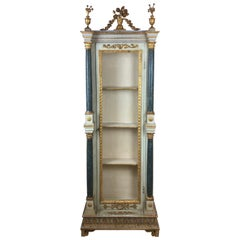 Late 18th-Early 19th Century Carved Painted and Gilt Wood Venetian Cabinet