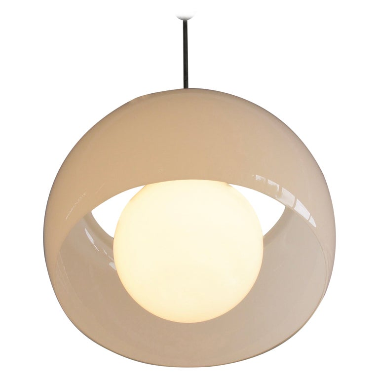 XL Omega Hanging Lamp by Vico Magistretti, 1962 For Sale