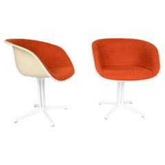Mid-Century Orange Fiberglass Dining Chairs, Eames for Vitra, 1960s