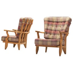 Guillerme & Chambron Pair of Mid Repos Lounge Chair