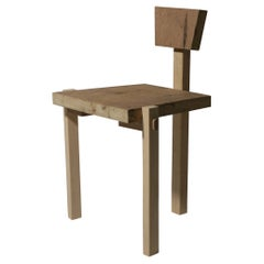 """Brutalist """"Flag Chair"""", Solid Wood, Brazilian Contemporary Design"""