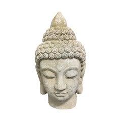 Contemporary Set of Buddha Head Statues