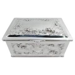 Antique Gorham Edwardian Sterling Silver Keepsake Casket Box