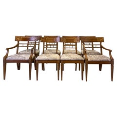 Neo-Classical Style Carved Walnut Dining Chairs by John Widdicomb
