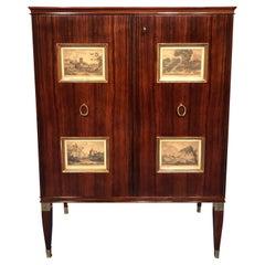 Italian Mid-Century Sideboard or Bar Cabinet by Paolo Buffa, 1950s