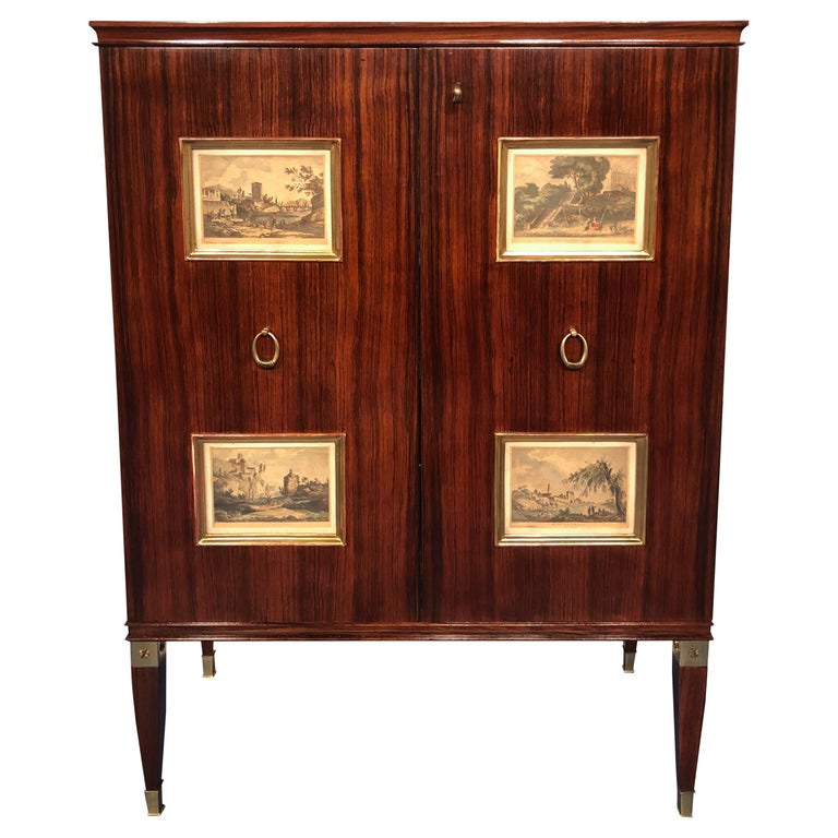 Italian Mid-Century Sideboard or Bar Cabinet by Paolo Buffa, 1950s For Sale
